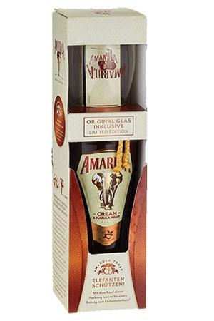 Amarulla mit Glas in Geschenkbox 70 cl
