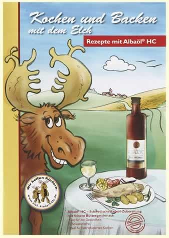 Albaöl HC, Kochen und Backen mit dem Elch Stk