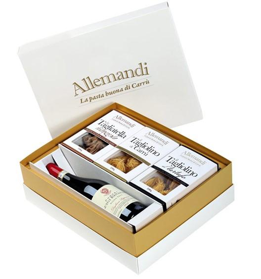 Geschenkset Pasta und Wein Box