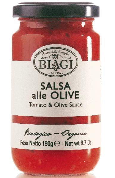 Salsa alle olive BIO, 190 ml