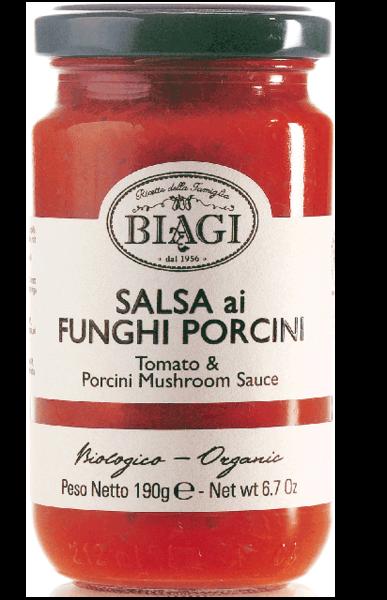 Salsa ai funghi porcini BIO, 190 ml
