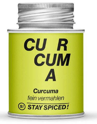 Kurkuma - Curcuma - Gelbwurz - gemahlen Dose 70 gr