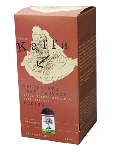 Kaffa Wildkaffee Medium, Pad 16 Portionen ESE