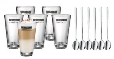 Latte Macchiato Set mit Löffel 6-teilig WMF 09.9626.999