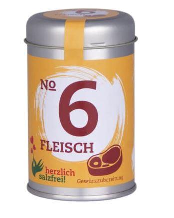Nr. 6 Fleisch herzlich salzfrei - Gewürz ohne Salz 50 gr