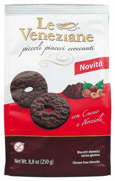 Schokoladen-Haselnuss Biscuits glutenfreies Gebäck 250 gr