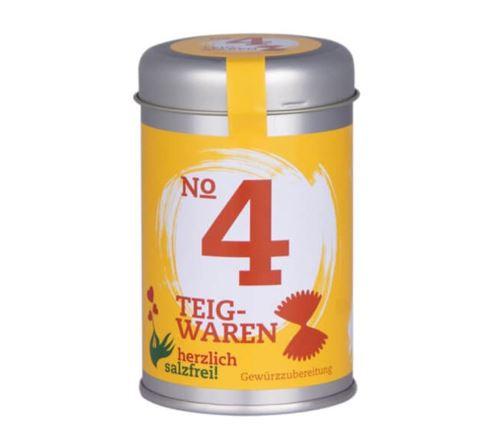 Nr. 4 Teigwaren herzlich salzfrei - Gewürz ohne Salz 55 gr