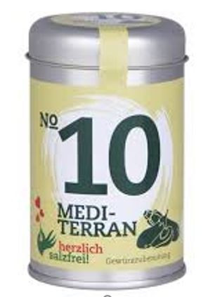 Nr. 10 Mediterran herzlich salzfrei - Gewürz ohne Salz 30 gr