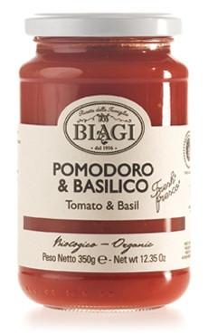 Salsa pomodoro & basilico BIO, 350 ml
