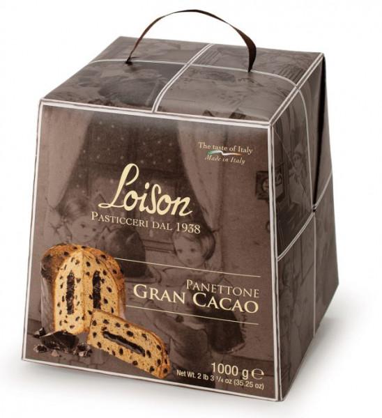 Panettone Gran Cacao con Gocce e Crema di Cioccolato 1000 g