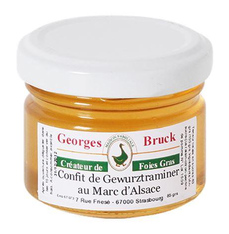 Gewürztraminer Confit au Marc d'Alsace im Glas 85 gr