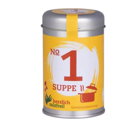 Nr. 1 Suppe - herzlich salzfrei - Gewürz ohne Salz 80 gr