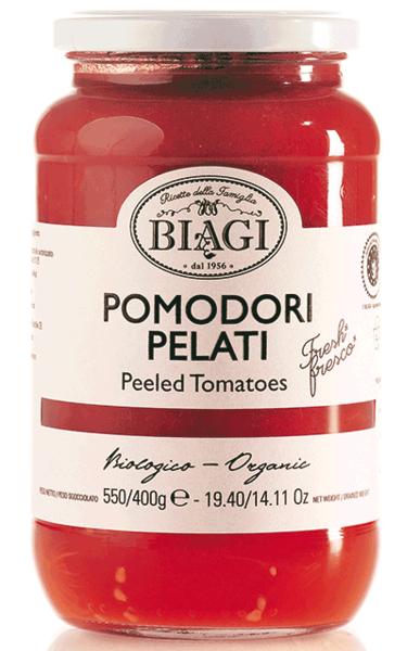 Pomodori pelati BIO, 580 ml