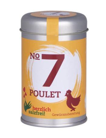Nr 7 Poulet herzlich salzfrei - Gewürz ohne Salz 90 g