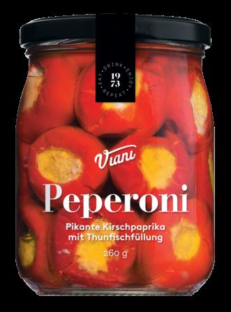 PEPERONI - Pikante Kirschpaprika mit Thunfischfüllung 260 gr