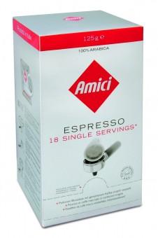 Box E.S.E. Portionen Espresso Amici Caffè