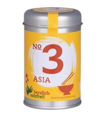 Nr. 3 Asia herzlich salzfrei - Gewürz ohne Salz 80 gr