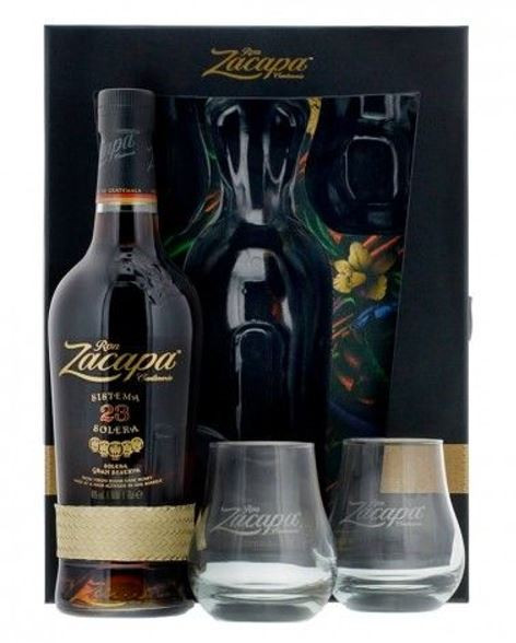 Rum Zacapa No. 23 Gran Reserva 70cl Set mit 2 Gläser 40%