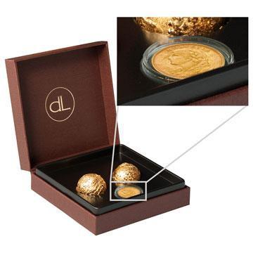 Gold Schokolade mit Schweizer Goldmünze