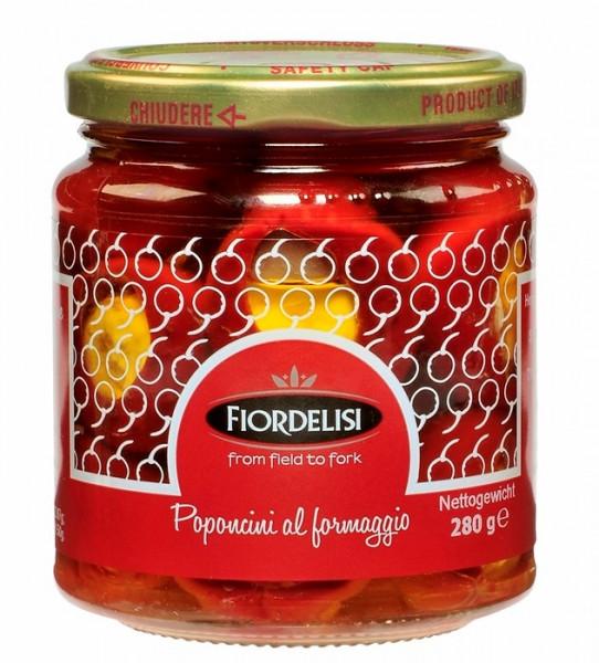 Paprika, gefüllt mit Ziegenfrischkäse eingelegt in Öl 280g