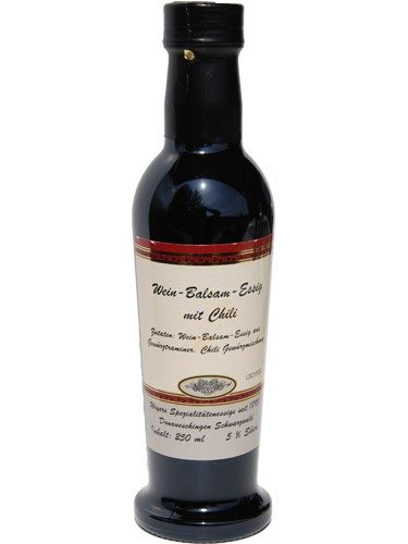 Weinessig Balsam mit Chili