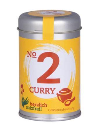 Nr. 2 Curry herzlich salzfrei - Gewürz ohne Salz 90 gr